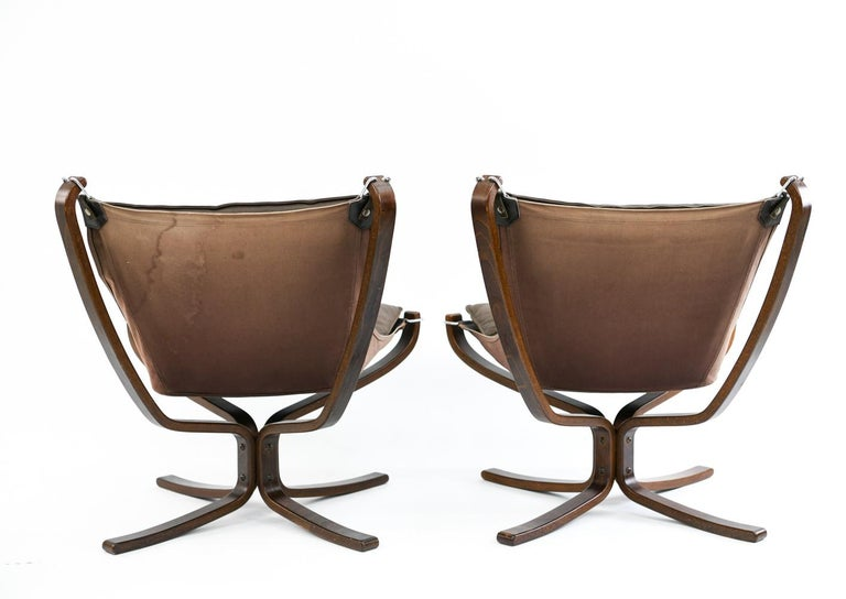 Four Falcon Chairs by Sigurd Ressell for Vatne Møbler For Sale 10