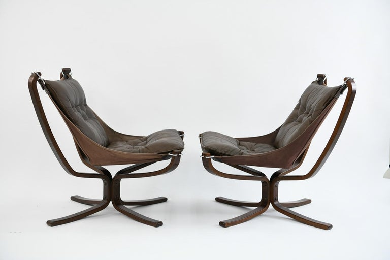 Four Falcon Chairs by Sigurd Ressell for Vatne Møbler For Sale 11