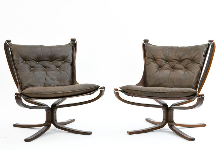 Mid-Century Modern Four Falcon Chairs by Sigurd Ressell for Vatne Møbler For Sale
