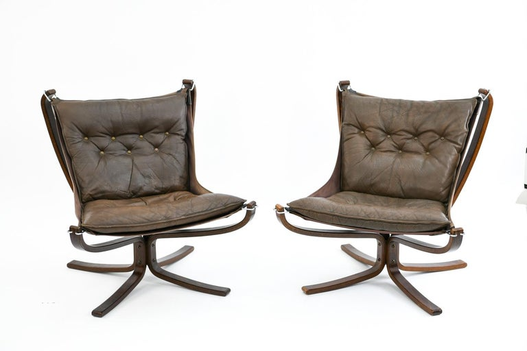 Norwegian Four Falcon Chairs by Sigurd Ressell for Vatne Møbler For Sale