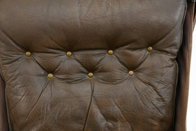 Leather Four Falcon Chairs by Sigurd Ressell for Vatne Møbler For Sale