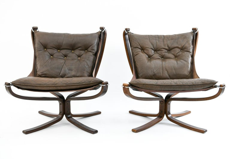 Four Falcon Chairs by Sigurd Ressell for Vatne Møbler For Sale 2