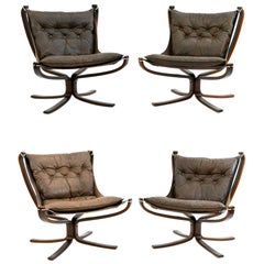Four Falcon Chairs by Sigurd Ressell for Vatne Møbler
