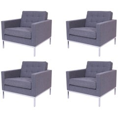 Four Florence Knoll Lounge Chairs