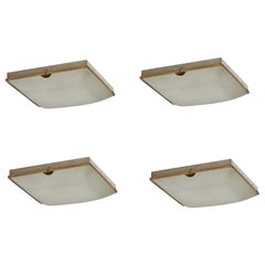 Four Flush Mount Ceiling Lights by Fontana Arte