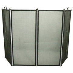 Four Fold Mission Arts & Crafts Fireplace Screen Spark Gard