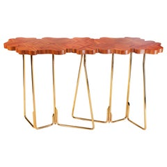 Four for Luck Console, Rosewood and Brass, Insidherland by Joana Santos Barbosa