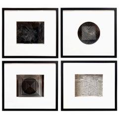 Four Framed Vasarely Prints, Cinétiques