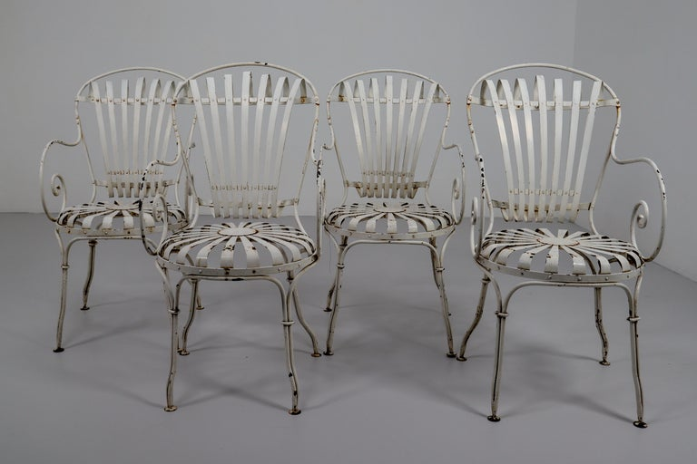 Four Francois Carre Garden Chairs Commissioned by Le Corbusier, France, 1930s For Sale 1