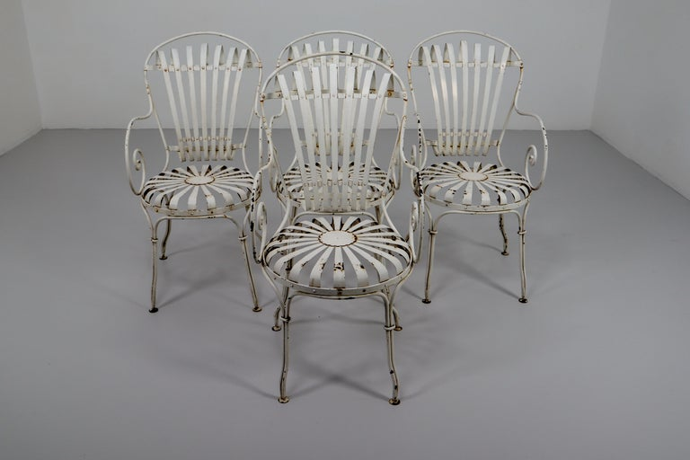 Four Francois Carre Garden Chairs Commissioned by Le Corbusier, France, 1930s For Sale 2