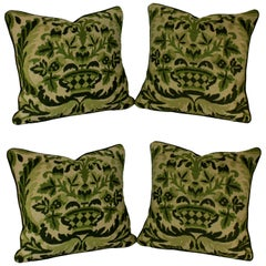 Four French 19th Century Needle Point Cushions