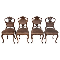Four French Loius Phillipe Antique Chairs