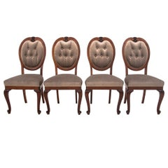 Four French Louis Phillipe Antique Chairs