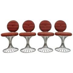 Four Gastone Rinaldi Mid-Century Modern Italian Armchairs for RIMA, 1960s