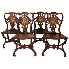 Four George III Hall Chairs