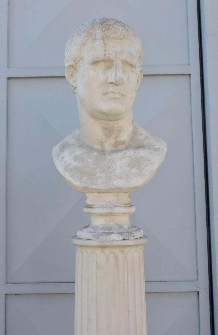 Four Grand Tour Style Romans Emperors Busts on Columns, 19th Century For Sale 3