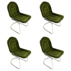 Four Green Chairs by Gastone Rinaldi, 20th Century