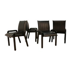 "Four Guido Faleschini Italian ""Dilos"" Dining Chairs by i4 Mariani for Pace"
