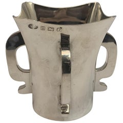 Four Handled Solid Silver Tygs Cup, 1923