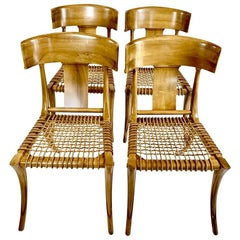 Four Handsome Neoclassical Klismos Chairs in the Manner of TH Robsjohn Gibbings