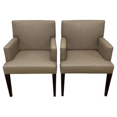 Four HBF Stamped Covered Upholstered Armchairs by Pace