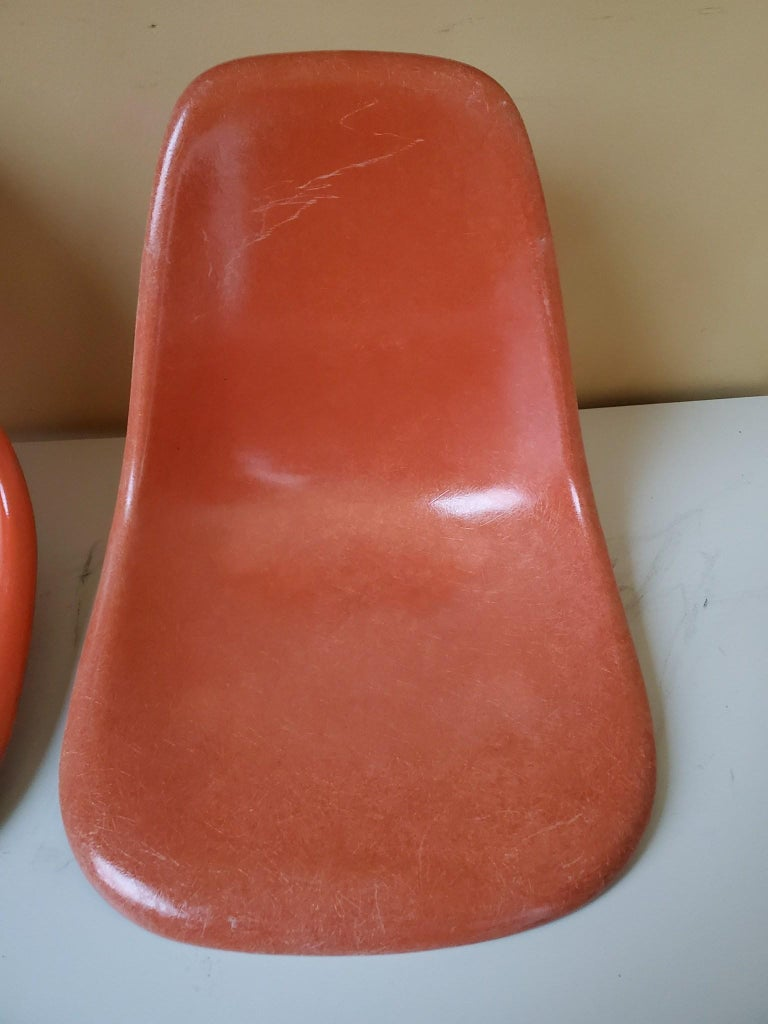 American Four Herman Miller Eames Dining Chairs For Sale