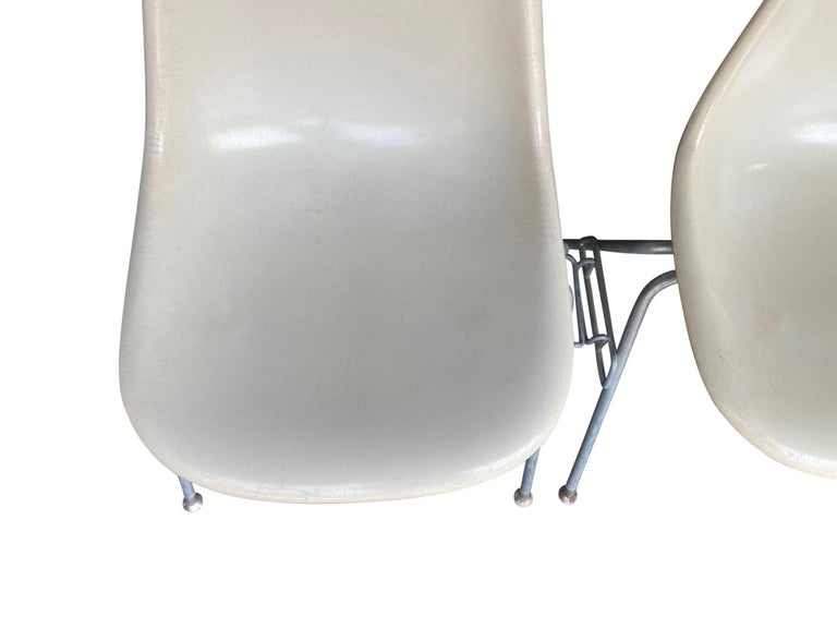 Four Herman Miller Eames Fiberglass Stacking Dining Chairs For Sale 10
