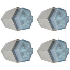 Four Hexagonal Modular Sconces / Flush Mounts by Poliarte