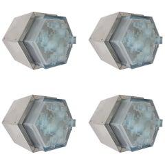 Four Hexagonal Modular Sconces / Flushmounts by Poliarte