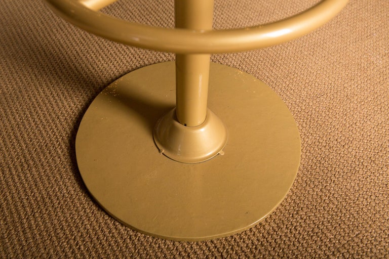 Four High Quality Bar Stools Made of Metal in Golden Color For Sale 6