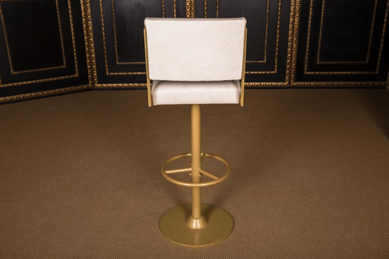 Four High Quality Bar Stools Made of Metal in Golden Color For Sale 7