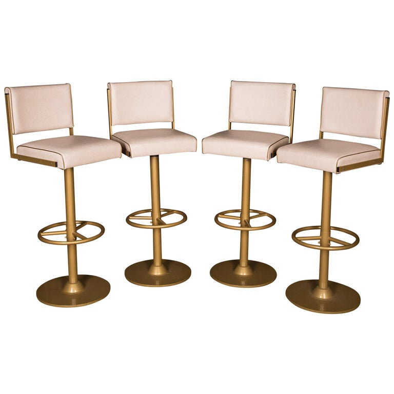Brilliant Four High Quality Bar Stools Made Of Metal In Golden Color Forskolin Free Trial Chair Design Images Forskolin Free Trialorg