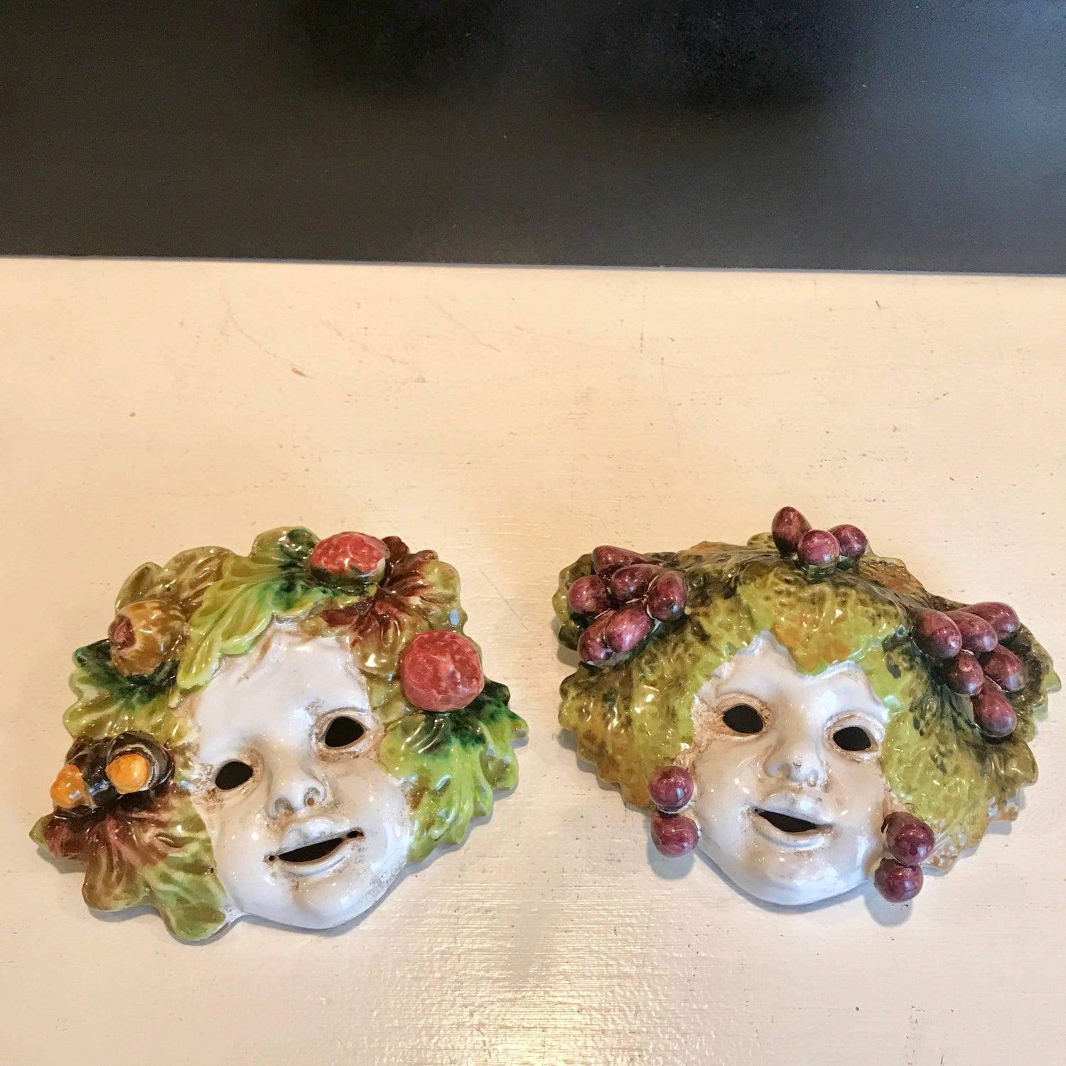 Nice Comedy Tragedy Masks Wall Art Ensign - The Wall Art Decorations ...