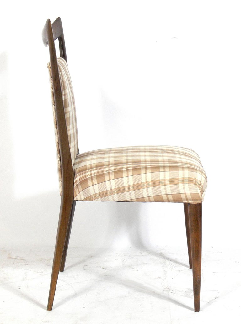 Mid-Century Modern Four Italian Dining Chairs by Melchiorre Bega