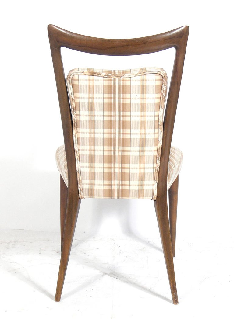 Mid-20th Century Four Italian Dining Chairs by Melchiorre Bega