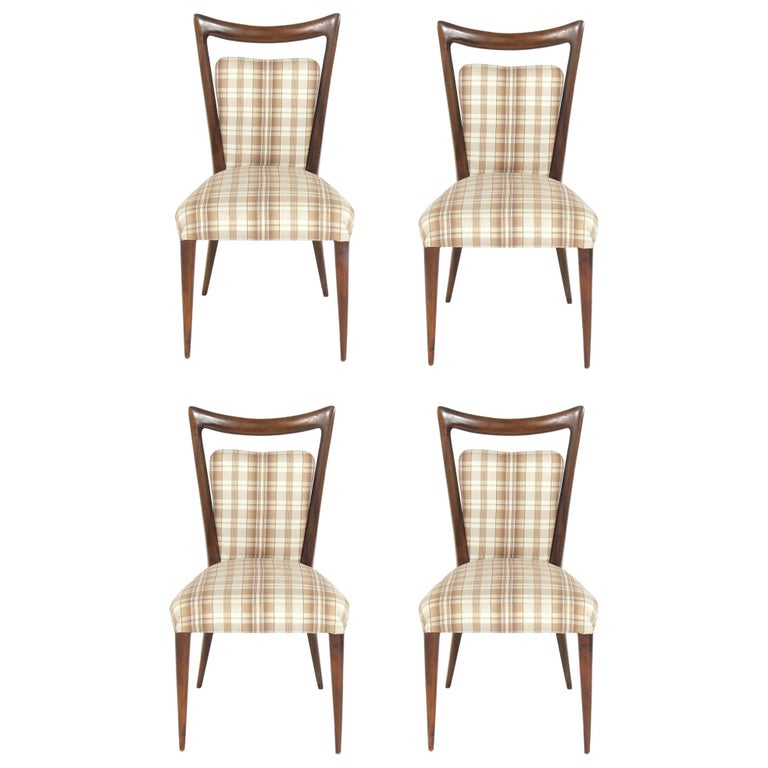 Four Italian Dining Chairs by Melchiorre Bega