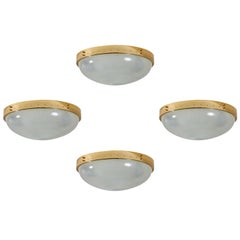 Four Italian Flush Mount Ceiling Lights