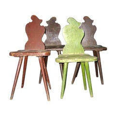 Four Italian Futurist 'Sgabello' Chairs or Stools