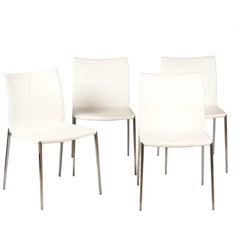Four Italian 'Lia' Leather Side Chairs by Roberto Barbieri for Zanotta, Italy