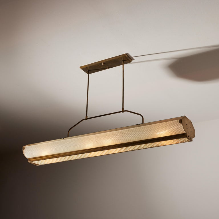 Mid-Century Modern Three Italian Mfg. Custom Ceiling Lights For Sale