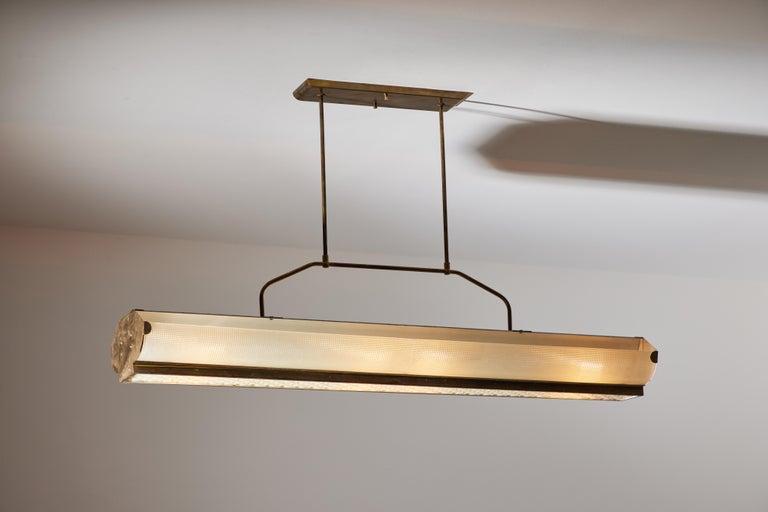 Mid-20th Century Three Italian Mfg. Custom Ceiling Lights For Sale