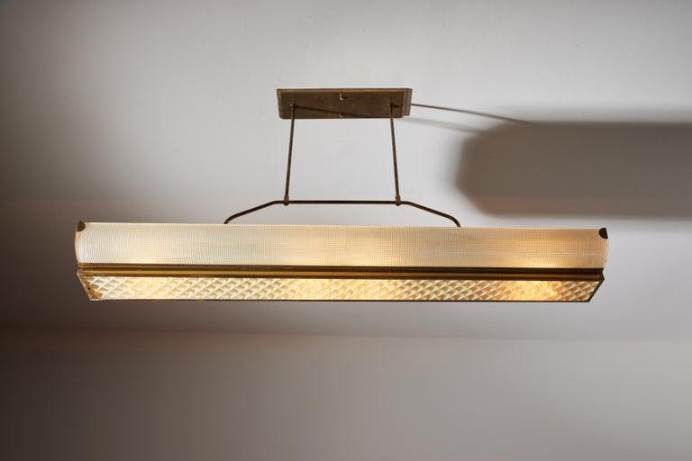 Brass Three Italian Mfg. Custom Ceiling Lights For Sale