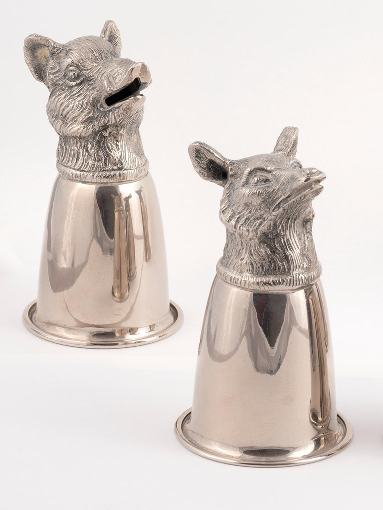 Modelled with a boar's head, staghead, fox head and hare head