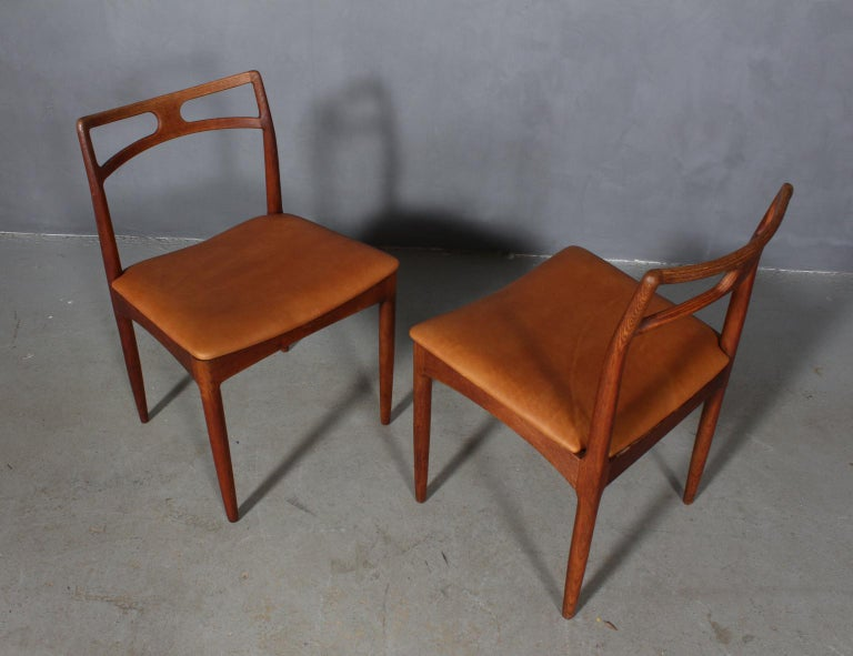 Danish Four Johannes Andersen Teak Dining Chairs, Model 96, Christian Linneberg, 1960s For Sale