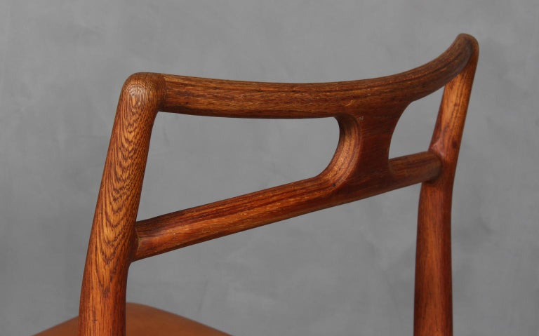 Four Johannes Andersen Teak Dining Chairs, Model 96, Christian Linneberg, 1960s In Good Condition For Sale In Esbjerg, DK