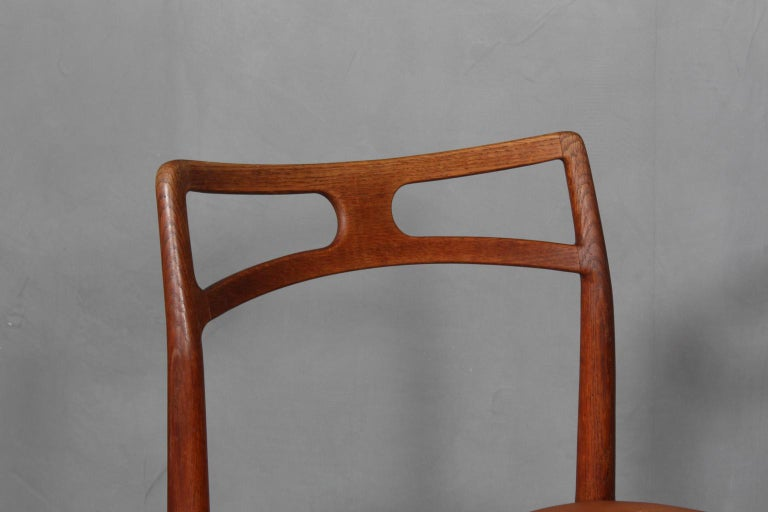 Mid-20th Century Four Johannes Andersen Teak Dining Chairs, Model 96, Christian Linneberg, 1960s For Sale