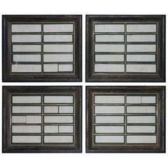 Four John Henning Large Framed Victorian Grand Tour Plaster Parthenon Friezes 4