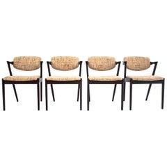 Four Kai Kristiansen Chairs Model 42