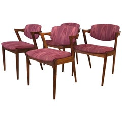 Four Kai Kristiansen Rosewood Dining Chairs for Schou Andersen