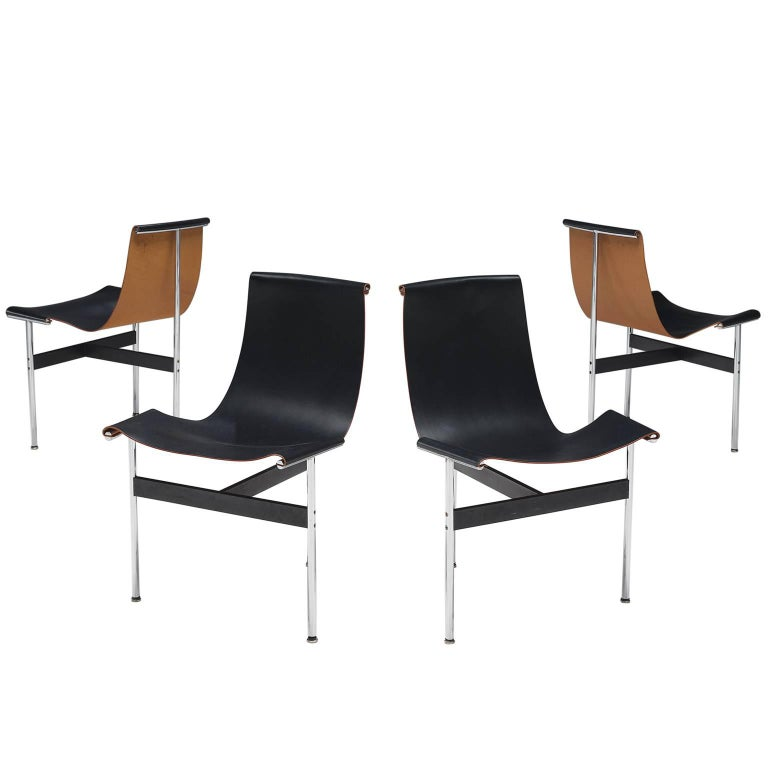 Katalovos Kelly and Littell T-Chairs in Original Black Leather